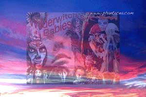 Two promo collages for Wilderwitch's Babies, prepared by Jim McPherson, 2016